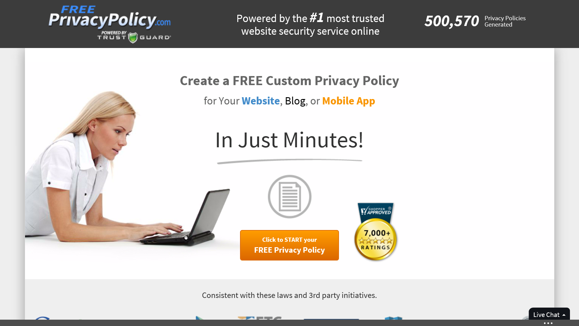 500,000 Privacy Policies Created With FreePrivacyPolicy.com Highlights Increasing Importance of Privacy Concerns