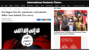Fear of Cyberattacks Second Only to ISIS Fear: Pew Survey