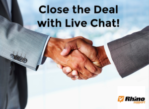 Close the Deal with live chat is a win-win